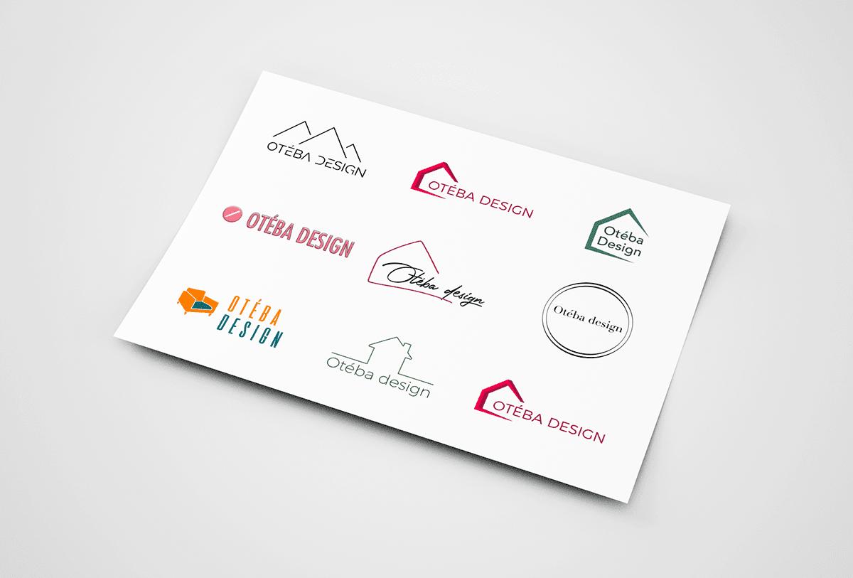 Studio bleu - Oteba design Logo recherches