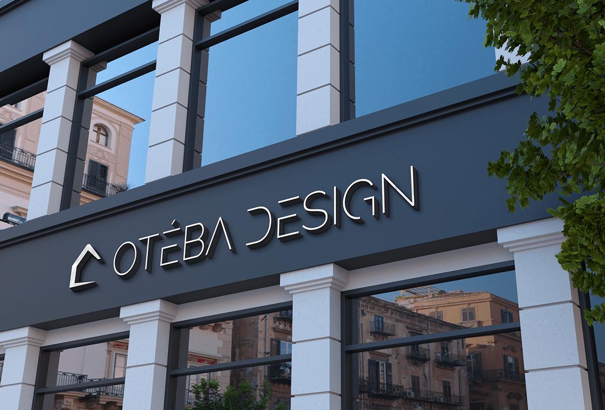 Studio bleu - Oteba design Logo