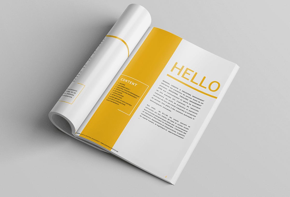 Studio bleu - GLIM Création de brochure