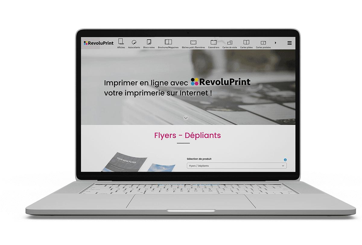 Studio bleu - Revoluprint maquettes web