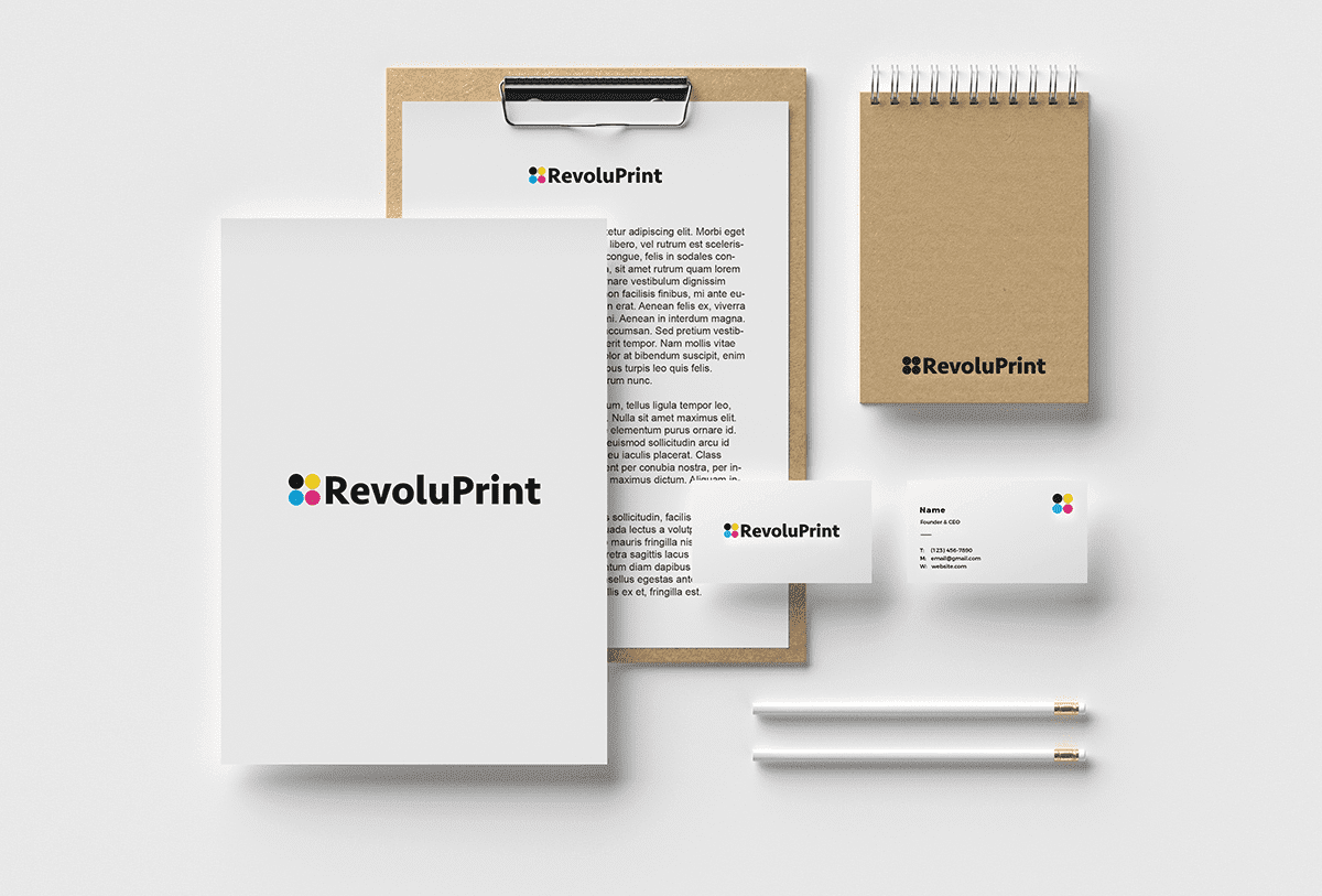 Studio bleu - Logo marque RevoluPrint