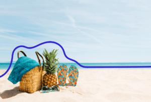 vacances en freelance studio bleu